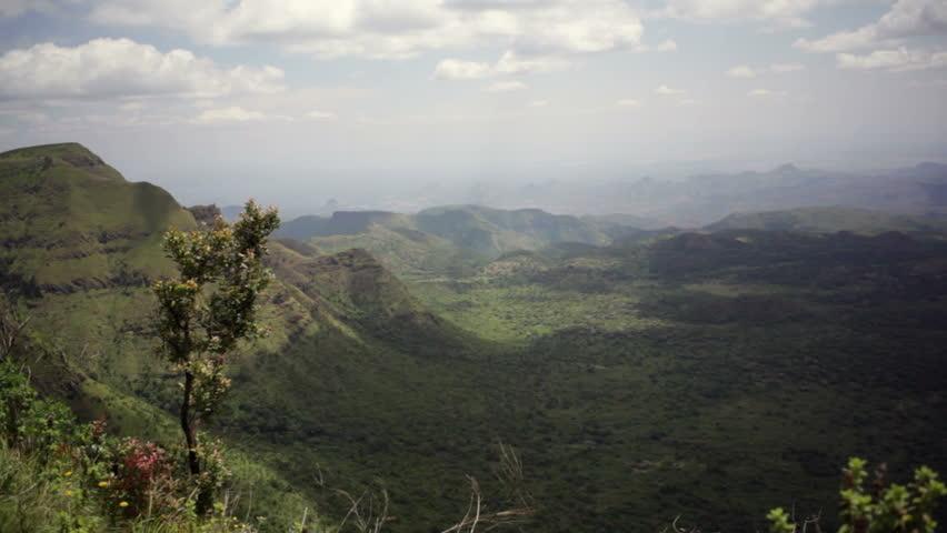 The Great Rift Valley viewpoint, Samburu, Kenya, Africa, pan right | Shutterstock HD Video #11345927
