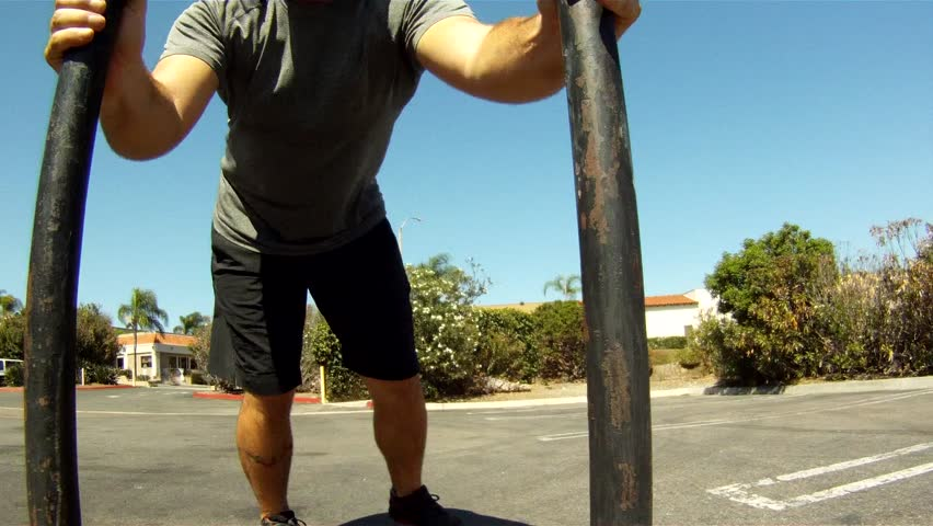 Point of view Sled Push 1080p