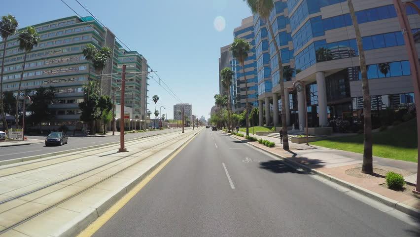 PHOENIX, AZ/USA - June 27, 2015: Point Of View Driving Vehicle ...