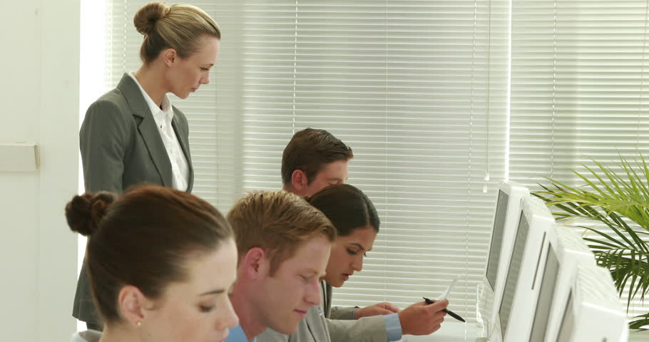Video of business people writing on paper in call center | Shutterstock HD Video #11459126
