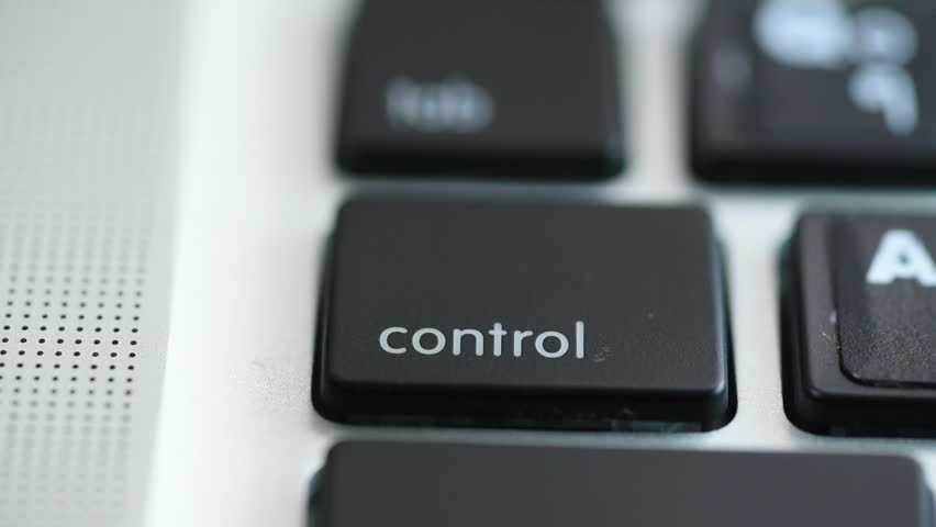 Hand Pushing The Control Key  #11461517
