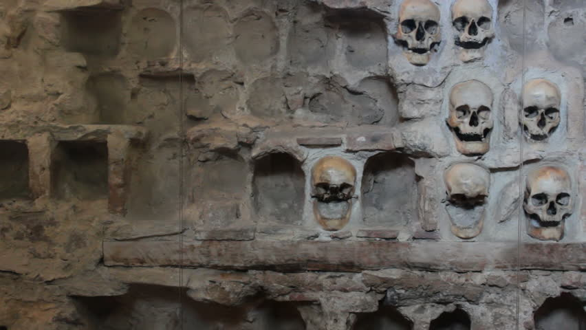 Nish,Serbia;7/9/2015.,Monument from the First Serbian Uprising 1809. which was in retaliation by the Turkish authorities in Serbia built from the skulls of dead Serbian warriors