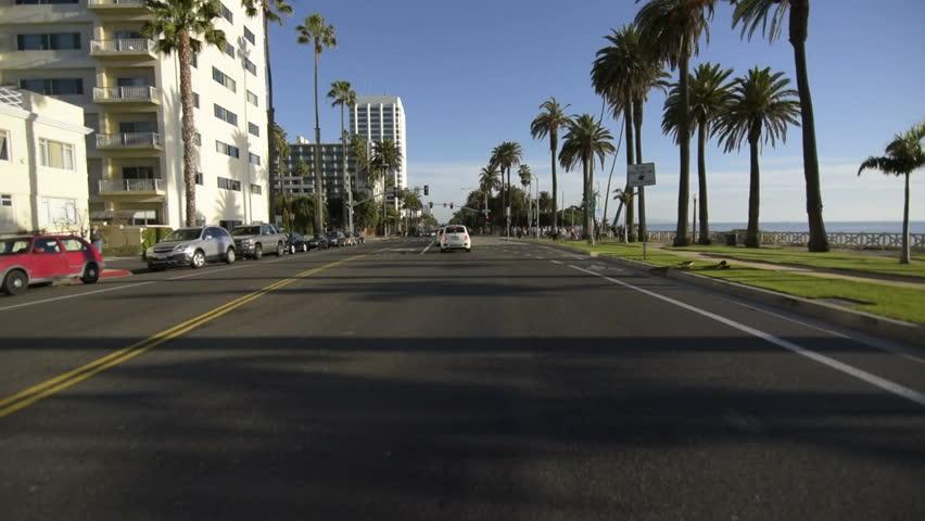 Driving Plates Multi Angle Santa Monica Set#12 CAM1 Front Beach Resort 60fps - California, USA