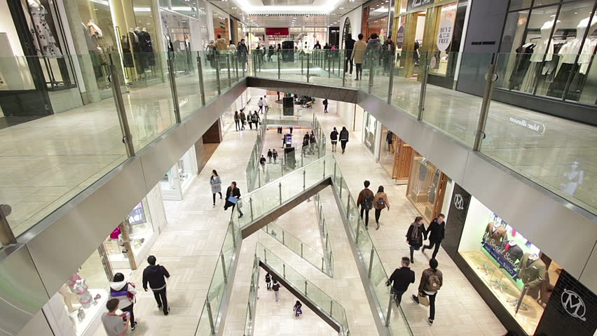 Melbourne, Australia - Aug 1, 2015 Timelapse video of people shopping in a shopping mall in Mellbourne, Australia   Shutterstock HD Video #11548757