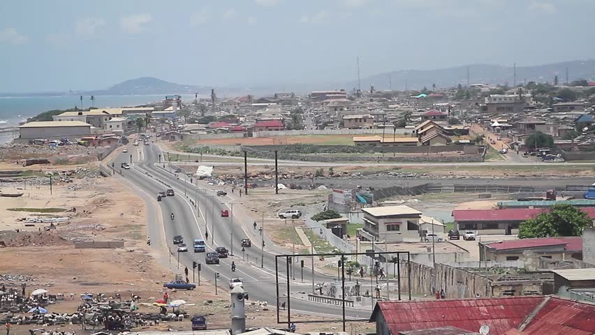Wide View of a third world town