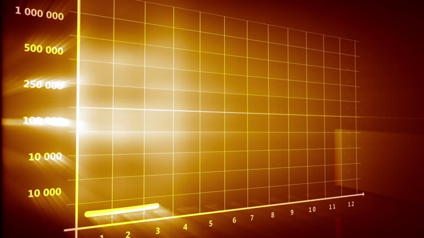 stock video of animated graph and chart on futuristic