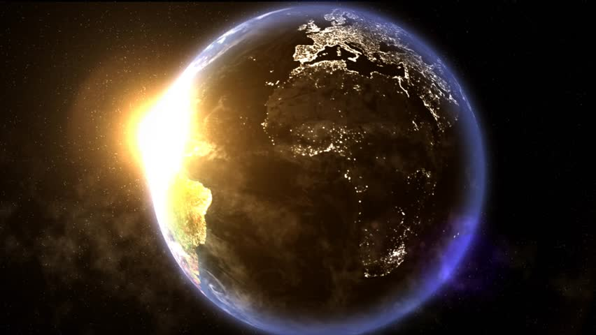 Animated of the globe with the Sun.