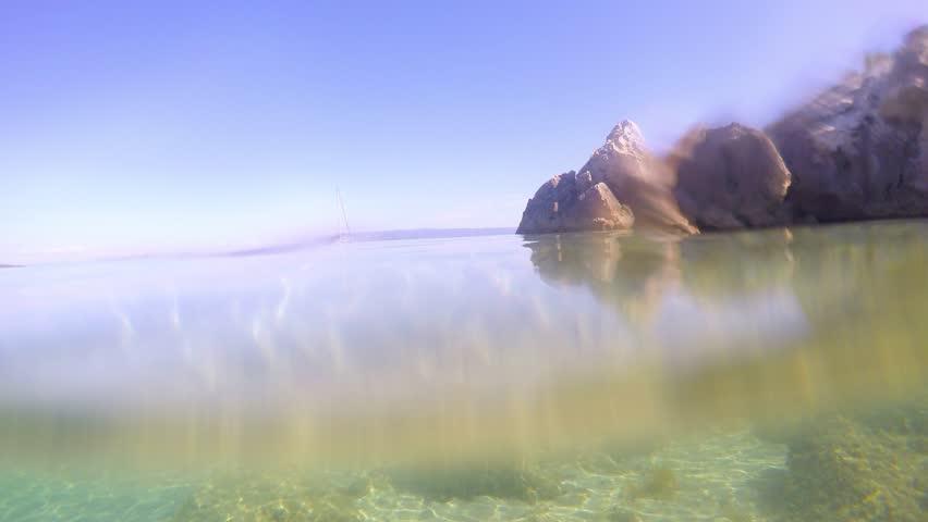 Rocks and seaweeds underwater | Shutterstock HD Video #11623877