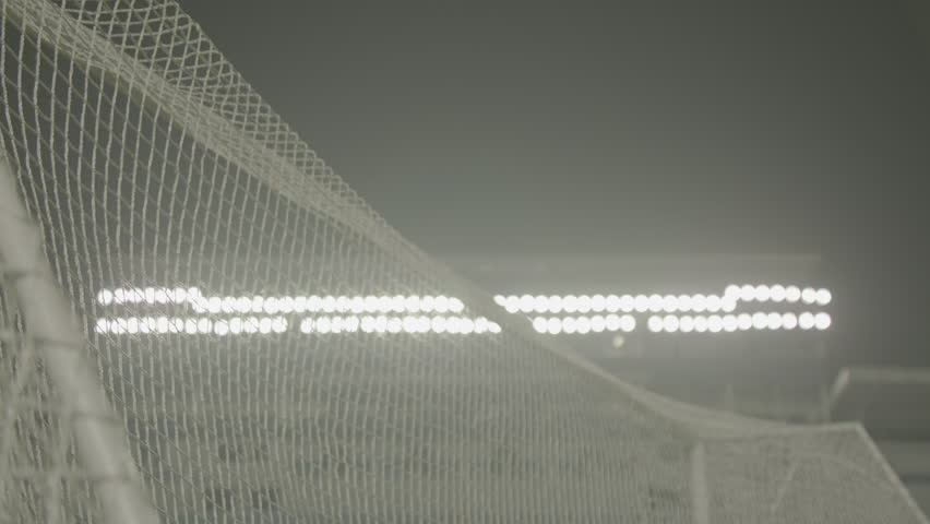 Football soccer ball goal into net slow motion #11635067