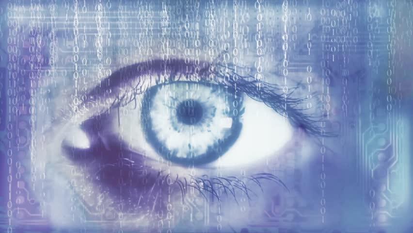 Eye reading a binary code | Shutterstock HD Video #11651021