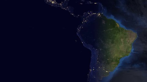 Planet Earth Time-lapse of Central America (FULL 4k HD)