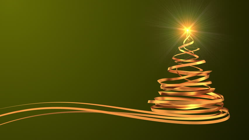 Christmas Tree From Gold Tapes Stock Footage Video 100 Royalty Free 11714357 Shutterstock