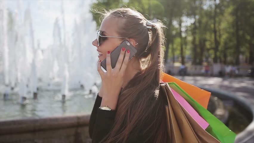 Sale, consumerism: Confident lady with...