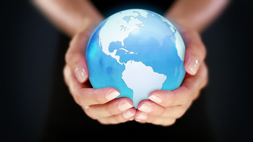 Female hands holding the Earth. Starting in United States. Cyan. The Earth globe start showing North America and is loopable from frame 98 to frame 547. | Shutterstock HD Video #11744807