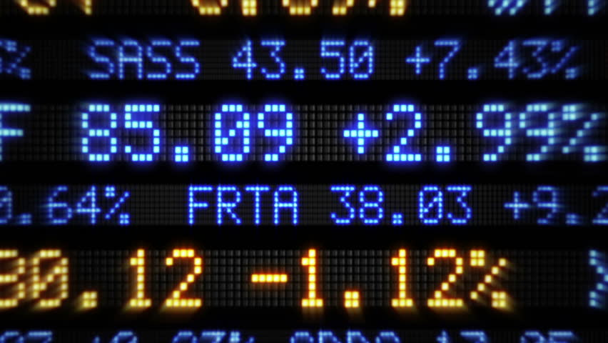 A fictional stock market ticker stock footage video 2195491 stock market tickers loopable blue and orange zoom out 3 videos in negle Choice Image