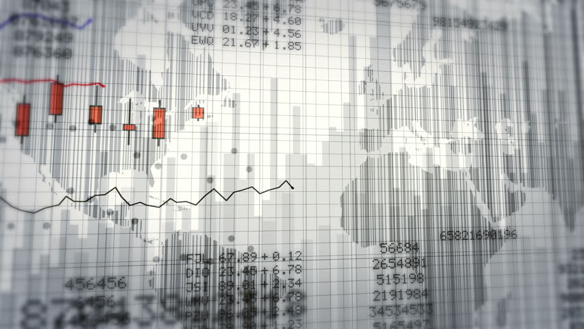Financial data and growing charts. Red and White. 2 videos in 1 file. More options in my portfolio. | Shutterstock HD Video #11748602
