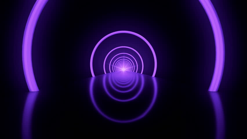 Purple lightning light effects cg animation loop stock for Fast house music