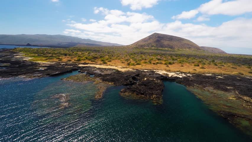 Aerial shot over Isabella island