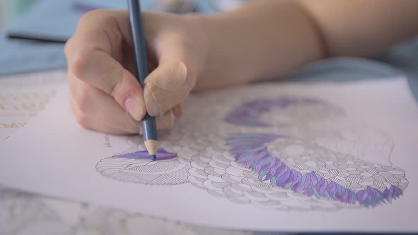 A young girl carefully colouring her drawing - HD stock video clip & View Of Woman Fingers Drawing Beautiful Picture Of Family By Sand ... azcodes.com