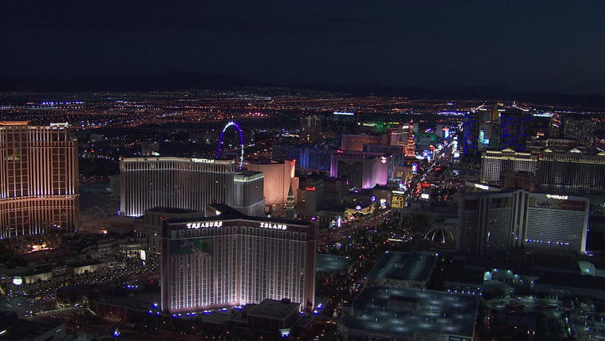 NEVADA, CIRCA 2010: Aerial view of cityscape at night / Las Vegas, Nevada, USA, 01/01/2010 | Shutterstock HD Video #11943497