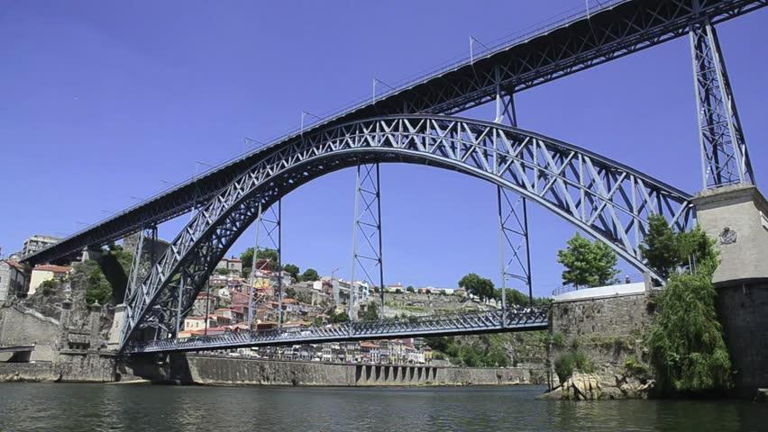Dom Luis I bridge in Porto, Portugal.