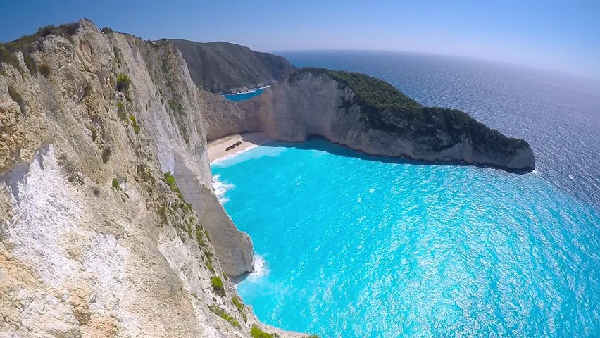 Beautiful Navagio Beach Shipwreck On Zakynthos Island Greece