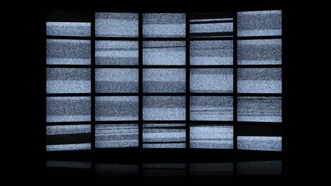 White noise led wall with final green screen