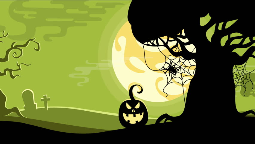 halloween seamless looped animated background 4k stock video clip - Halloween Background Video