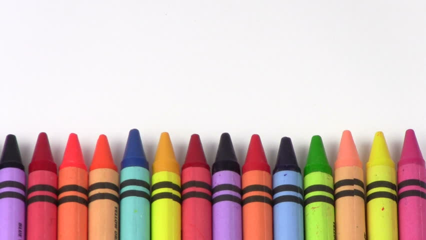 Crayons Back to School Stock Footage Video (100% Royalty ...