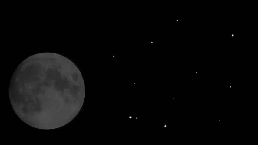 Rising full moon and shooting stars | Shutterstock HD Video #1216807