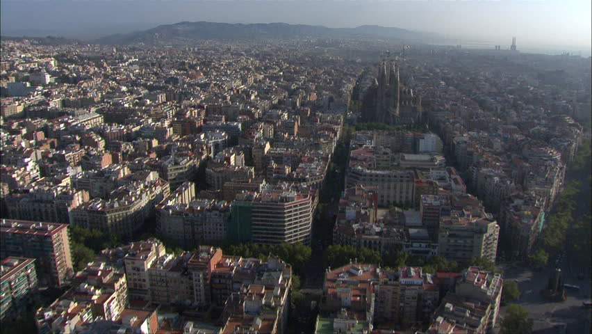 Aerial Barcelona Fly-Over Church | Shutterstock HD Video #12220367