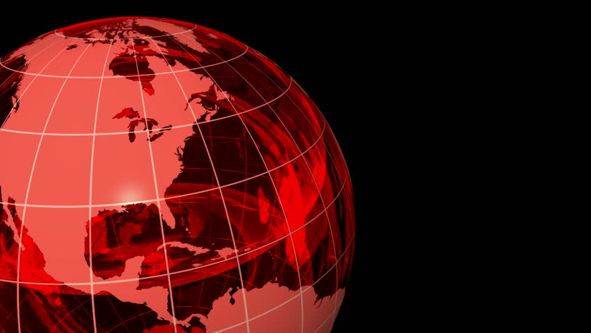 Led world map loop stock footage video 1777133 shutterstock 3d crystal globe red with grid alpha channel loop hd stock video clip gumiabroncs Choice Image