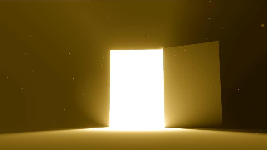 Door Open to Bright Light Stock Footage Video (100% Royalty-free) 12253847  | Shutterstock