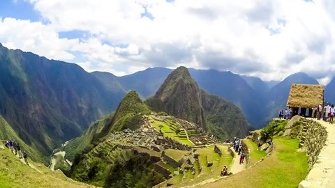 Machu Picchu ancient city of the inca timelapse, near Cuzco, andes mountains, South America