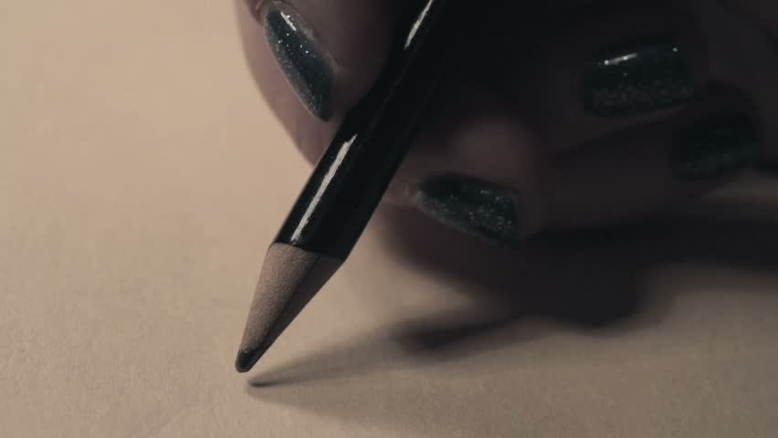 Pen writing line on black close up macro stock footage video writing a letter with a pencil female hands writing a letter to a friend altavistaventures Images