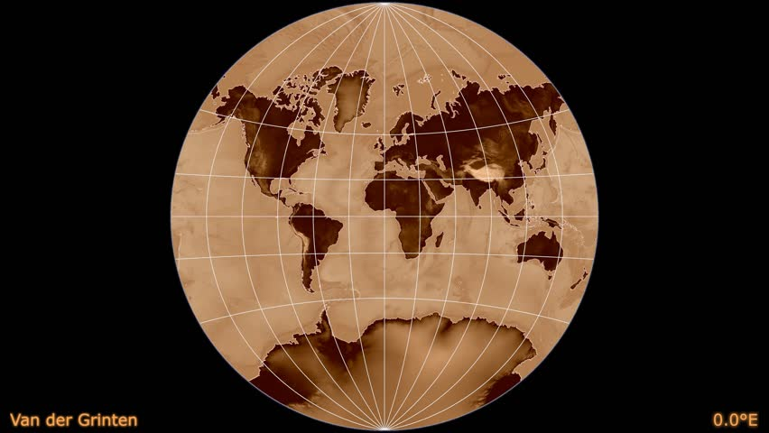 Distortion patterns animated world map in the van der grinten distortion patterns animated world map in the van der grinten projection shaded elevation map used continents darker elements of this image furnished by gumiabroncs Images