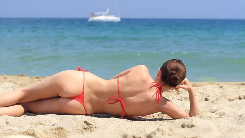 Beach girl thong beach bikini unsubscribe loading