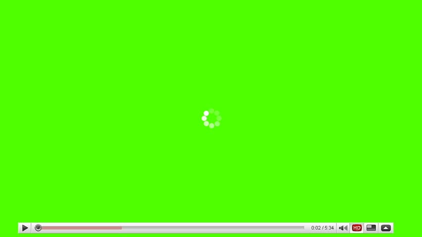 Movie Player Loading Video on a Green Screen Background
