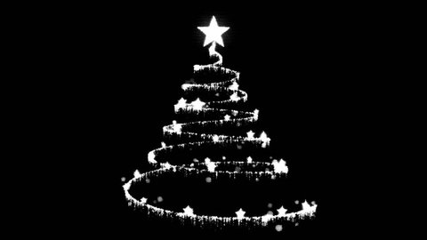15+ Christmas Tree Cartoon Black And White