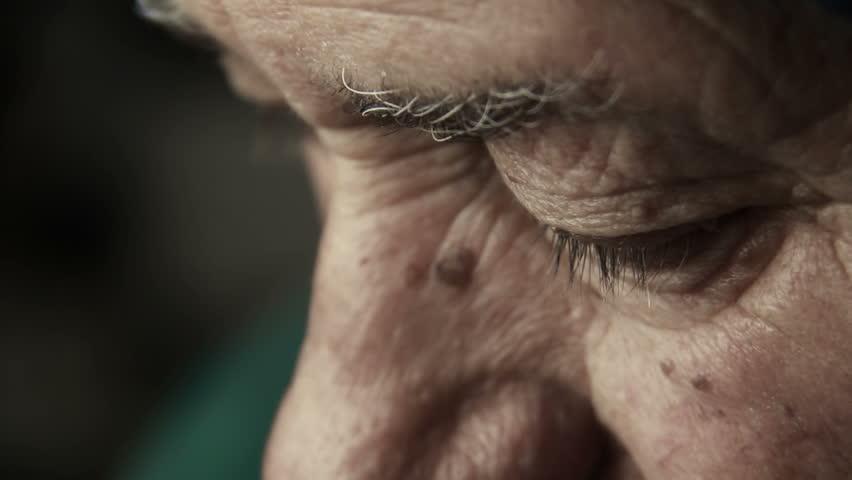 sad and depressed old man looks: retired man, lonely man, depressed man