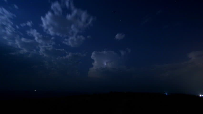 Storm incoming in the night.