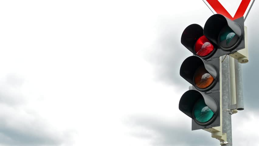 Detail of the traffic semaphore with sign - view of the sky | Shutterstock HD Video #12432227
