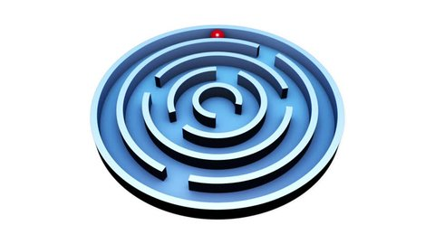 Wisdom (round maze), red ball into the center of the blue maze  alpha  channel is included , the video clip is made in cinema 4d (render in 16bit  tiff-sequence)  finishing in after effects
