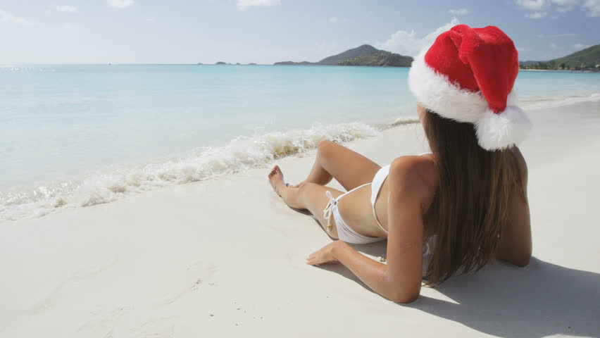 Model In Christmas Vacation.Beach Christmas Vacation Holidays Travel Stock Footage Video 100 Royalty Free 12443267 Shutterstock