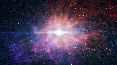 Simulation of Big Bang explosion.
