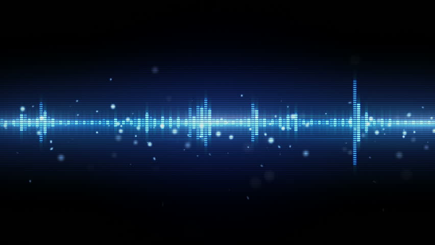 audio waveform equalizer. Computer generated seamless loop abstract motion background. 4k (4096x2304)