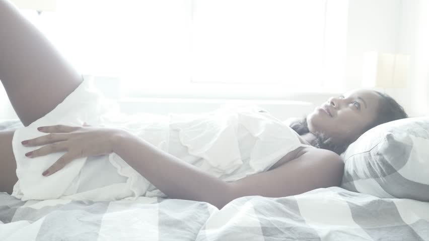 Black Women Laying On Bed Stock Footage Video 100 -5613