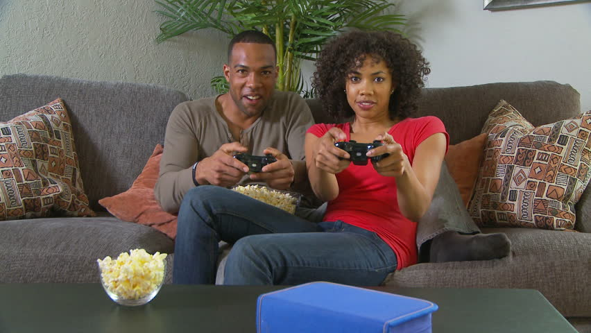 Couple Playing Video Games On Stock Footage Video 100 -2809