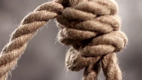 rope slipknot in concept suicide macro shot