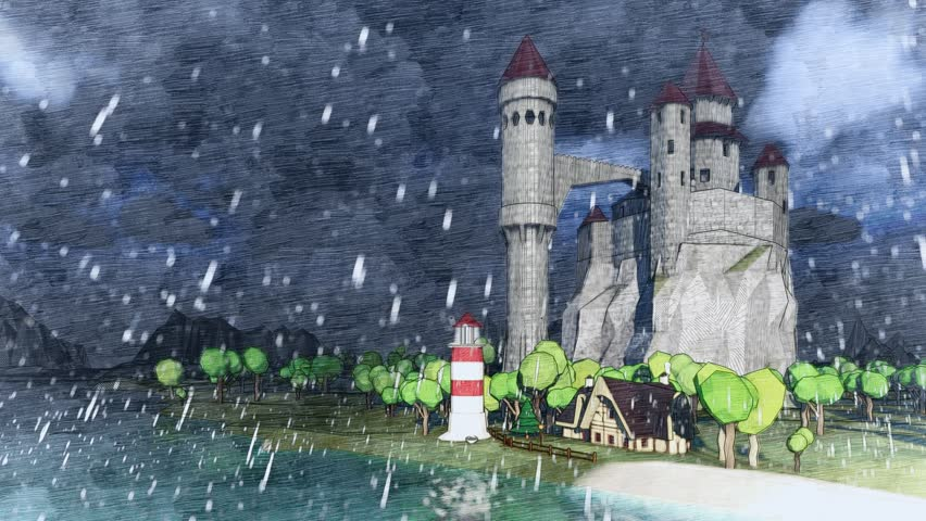 cartoon castle vector art image   free stock photo
